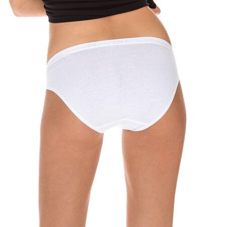 1674ce0dfe2 Lot de 2 slips midi blancs Femme Coton Plus Bio. Ref 4D97. 18