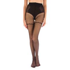 Collant noir DIM Sexy transparent effet rétro 21D, , DIM
