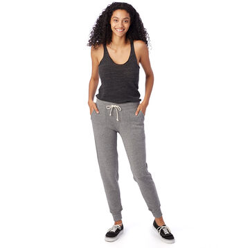 Pantalon de jogging gris chiné Eco-Fleece Femme-DIM