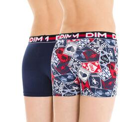 Lot de 2 boxers bleu et imprimé EcoDIM - DIM Boy-DIM