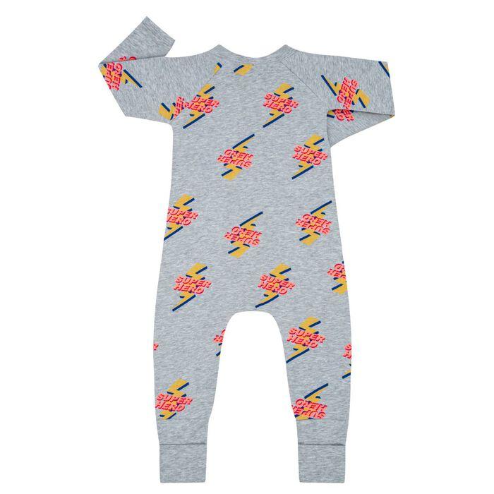 Pyjama bébé zippé Imprimé Super Héro DIM Baby, , DIM