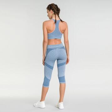 Legging sport femme bleu antique chiné - Dim Sport, , DIM