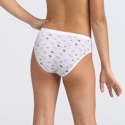 Lot de 4 culottes unies et imprimé Les Pockets DIM Girl, , DIM