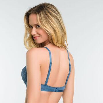 Soutien-gorge push-up dentelle bleu - Dim Daily Glam Trendy Sexy, , DIM
