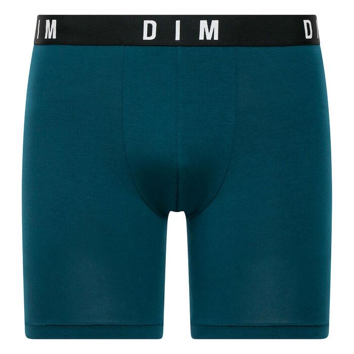 Boxer Long Bleu Paon en coton modal homme DIM Originals, , DIM
