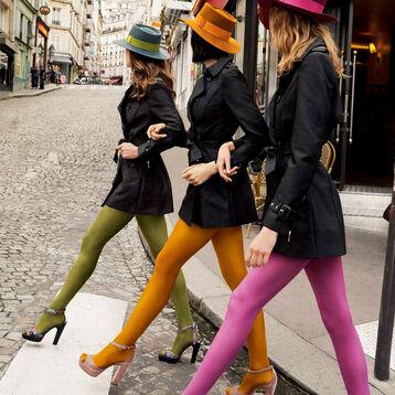 Collant kaki opaque velouté Style 50D, , DIM