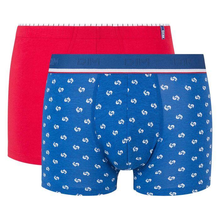 Lot de 2 boxers rouge topaze imprimé coq Dim Cup, , DIM