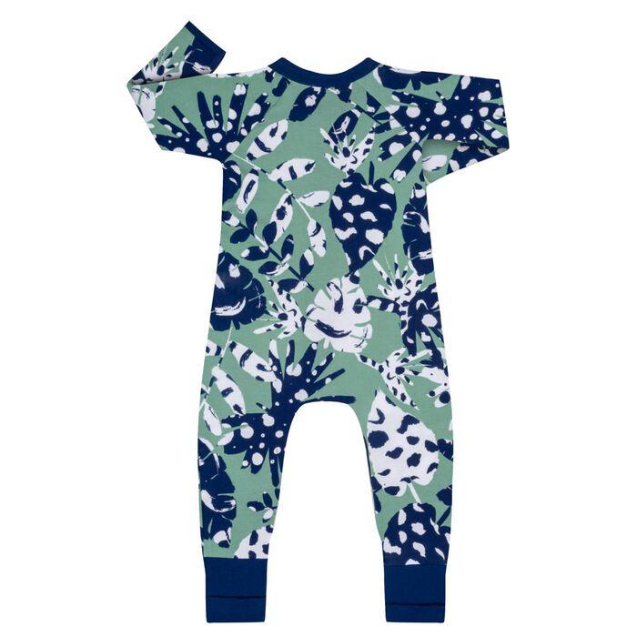 Pyjama bébé zippé Imprimé Tropical vert DIM Baby, , DIM