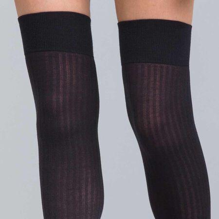 93f1ea6dc4c Chaussettes hautes en cottes de mailles noires DIM X ba sh. Ref 07MZ. 9