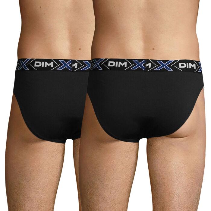 Lot de 2 slips noirs X-Temp en coton stretch, , DIM