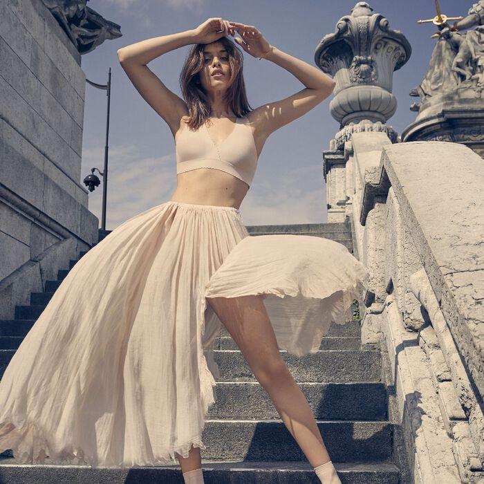 Brassière sans armatures rose ballerine New Body Touch Libre de Dim, , DIM