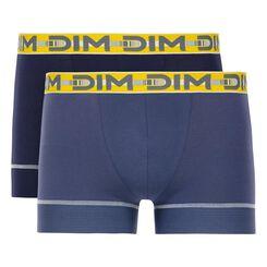 Lot de 2 boxers bleu cobalt et bleu orage 3D Stay & Fit-DIM