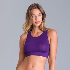 Brassière col haut collection 60 ans violet-DIM