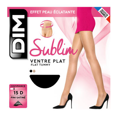 Collant noir Sublim Ventre Plat 15D, , DIM
