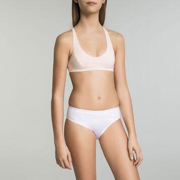 Brassière de sport blanche DIM Pocket Micro Girl-DIM