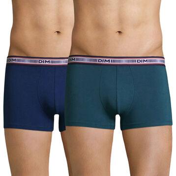 Lot de 2 boxers vert pin et bleu mer 3D Flex , , DIM