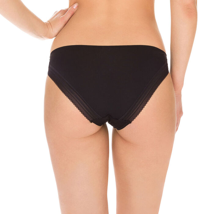 Slip noir seconde peau Invisi Fit, , DIM