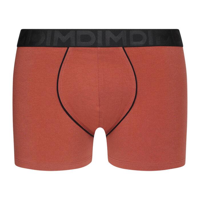 Boxer homme coton modal ceinture noire Rouge Brique Dim Classic, , DIM