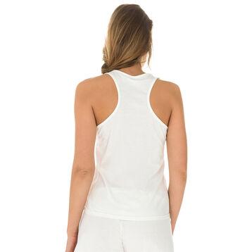 Débardeur de pyjama nacre 100% coton Femme-DIM