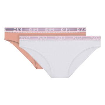 Lot de 2 slips blanc et rose Les Pockets Edition Limitée-DIM