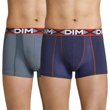 Lot de 2 boxers gris souris et bleu - 3D Flex Air, , DIM