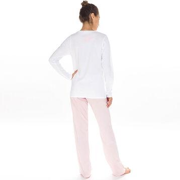 Pantalon de pyjama rose 100% coton Femme-DIM