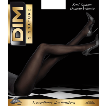 Collant noir Dim Signature Semi-Opaque Douceur Velouté 40D-DIM