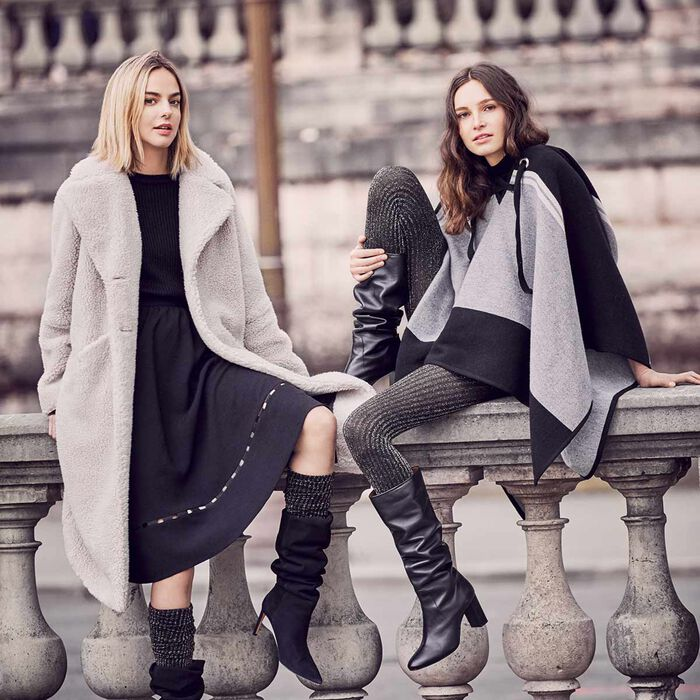 Chaussettes hautes cotte de mailles en lurex or  DIM & BASH-DIM
