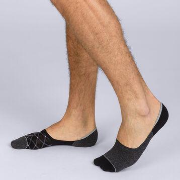 Lot de 2 protège-pieds coton fantaisie Homme Coton Style-DIM