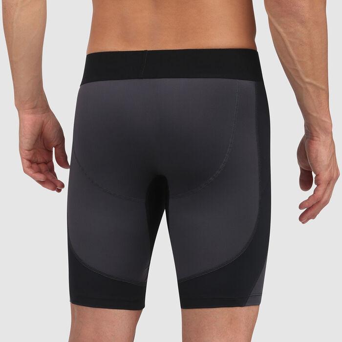 Short long DIM Sport Gris anthracite et détails noirs, , DIM