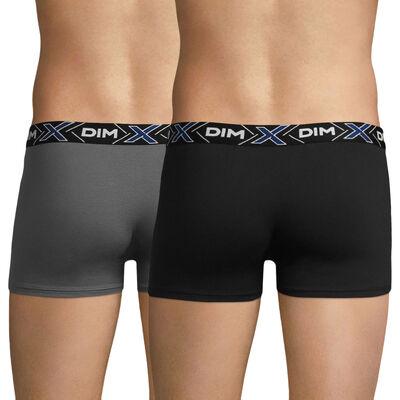 Lot de 2 boxers bleu-gris et noir X-TEMP, , DIM
