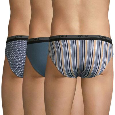 Lot de 3 slips imprimés éclipse - Coton stretch , , DIM