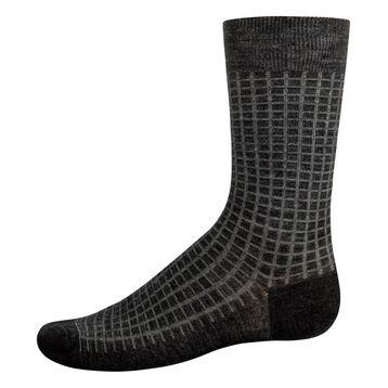 Mi-Chaussettes en laine pour homme Anthracite Chiné et Vert Jade, , DIM