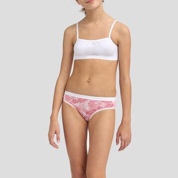 Lot de 3+1 culottes pour fille en coton stretch Indien Les Pockets, , DIM