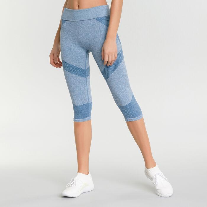Legging sport femme bleu antique chiné Dim Sport, , DIM