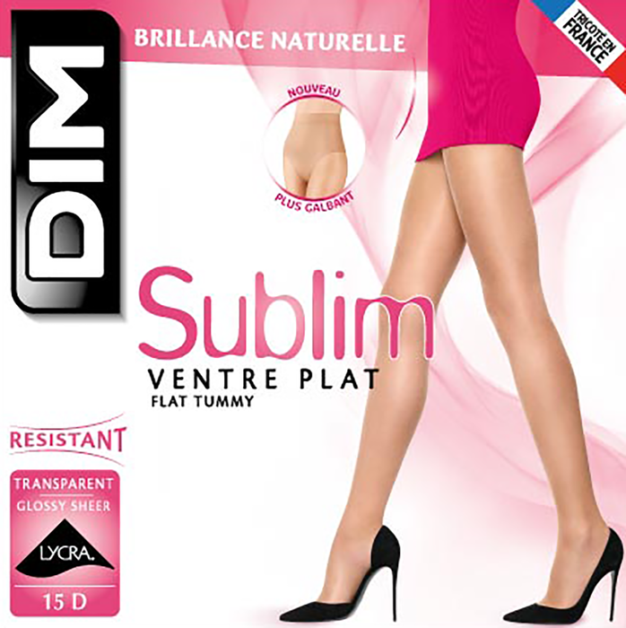 Collant noir Sublim Ventre Plat 15D-DIM
