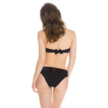 Haut de maillot de bain bandeau noir ajouré Femme-DIM