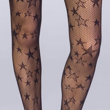 Collant résille étoile noir Femme Les Fantaisies-DIM