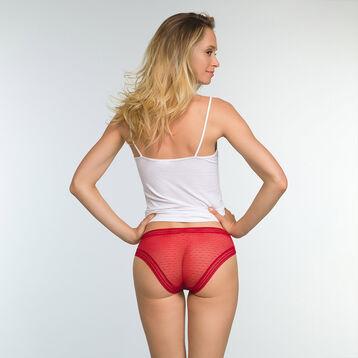 Lot de 2 culottes Brun Rouge coton et dentelle Sexy Transparency, , DIM