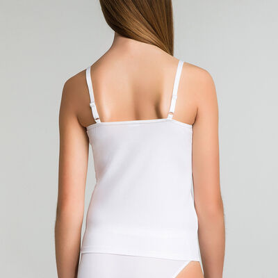Caraco blanc en coton DIM Girl, , DIM