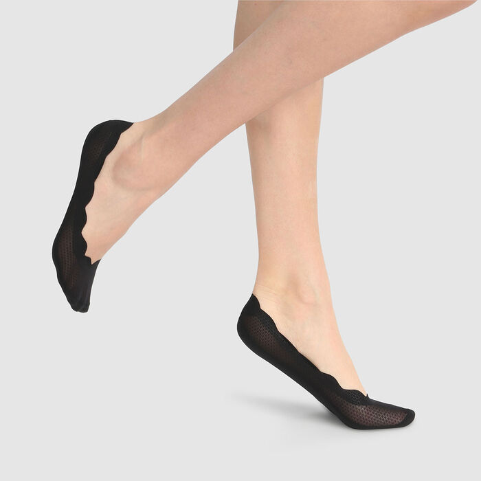 Protège-pieds imprimé pois fins noirs InvisiFit de Dim, , DIM