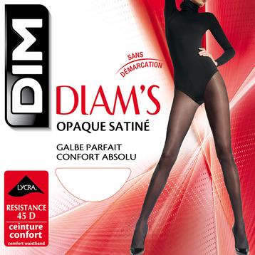 Collant chocolat Diam's jambes fuselées 45D, , DIM
