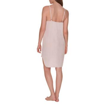 Chemise de nuit soyeuse à fines bretelles peau rosée Femme-DIM