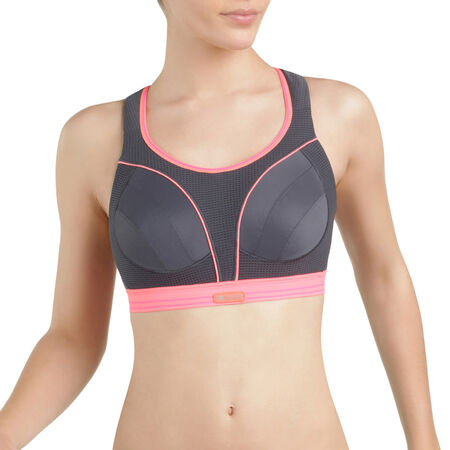 Soutien-gorge Ultimate Run Bra gris et rose Shock Absorber 0d65e6dbfa1