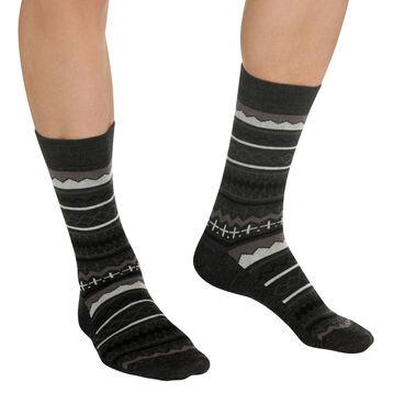 Chaussettes noires au motif nordique Homme, , DIM