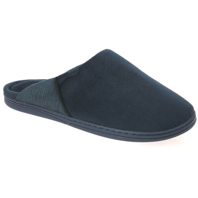 Chaussons type pantoufles bleu marine Homme, , DIM