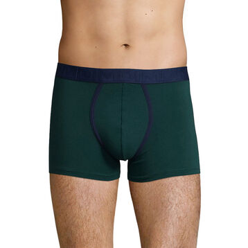 Boxer Vert Pacific en coton stretch pour homme Mix & Fancy, , DIM