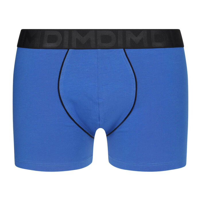 Boxer homme coton modal ceinture noire Bleu Electrique Dim Classic, , DIM