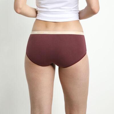 Lot de 5 boxers femme coton stretch à messages féminins Les Pockets, , DIM
