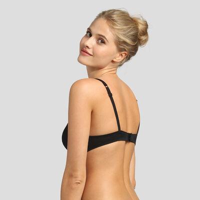 Soutien-gorge foulard push-up noir Sublim Dentelle recyclée, , DIM